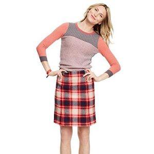 Boden British Tweed mini wool check print skirt